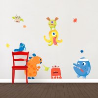 Monster Wall Decals - home monster wall stickers wall ...