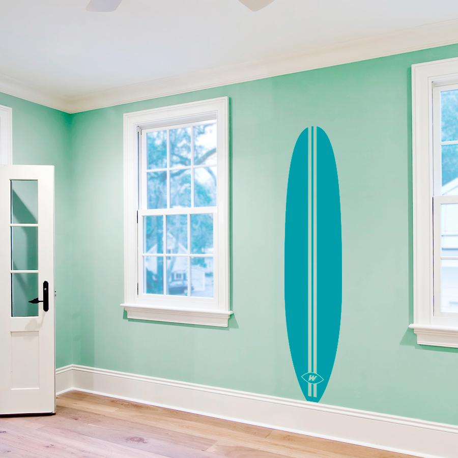 retro surfboard wall decal surfboard wall sticker