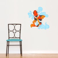 Koi Fish Wall Decal | Koi Fish Wall Sticker | Wallums