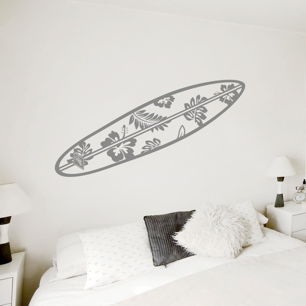hawaiian surfboard wall decal