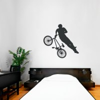 BMX Biker Wall Art Decal