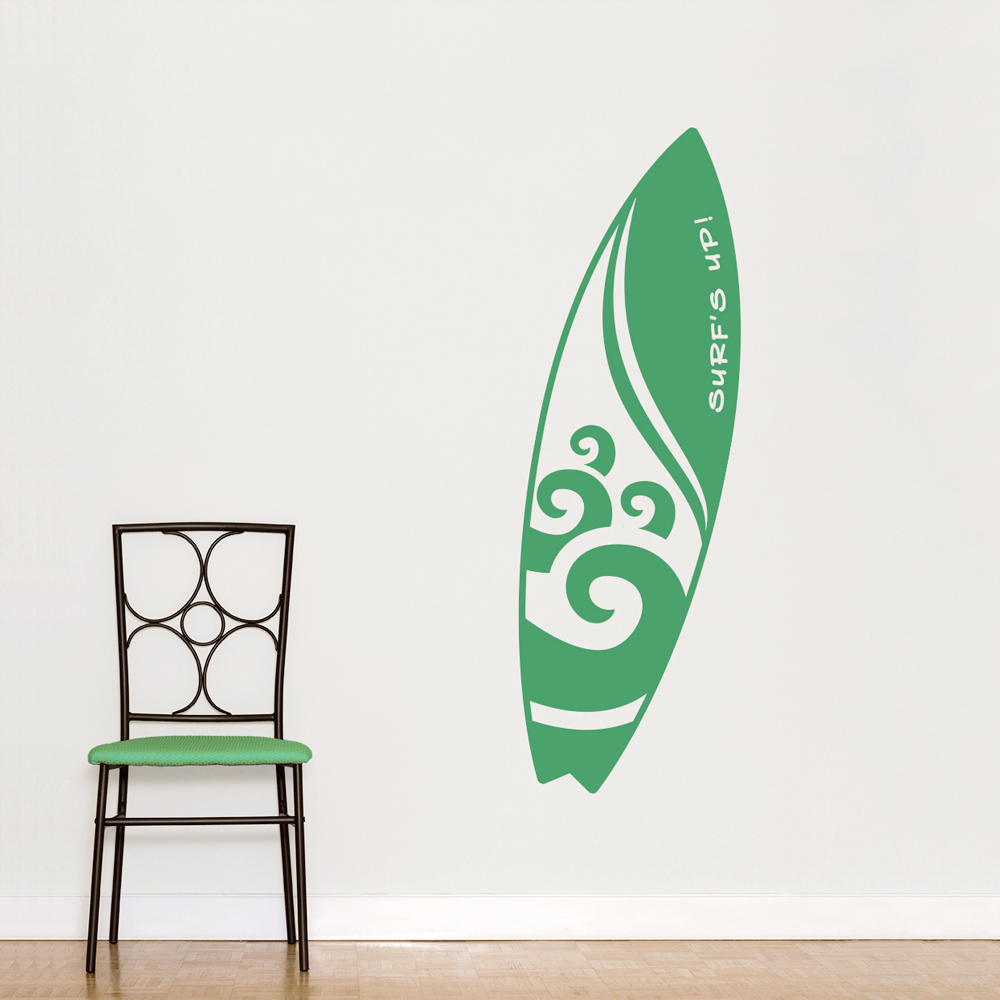 wave surfboard wall decal surfboard wall art for sale