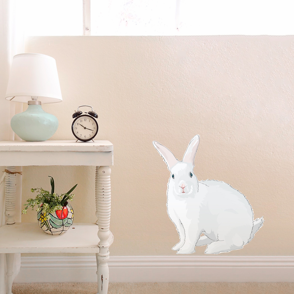 Baby Girl Nursery Removable Wallpaper Cadbury Bunny Printed Wall Decal