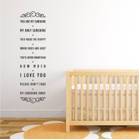 You Are My Sunshine Wall Decal - talentneeds.com