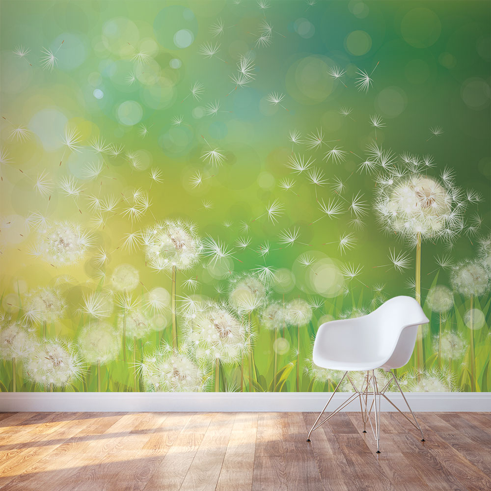 Valentine Day Wallpaper With Quotes Dandelion Dream Wall Mural