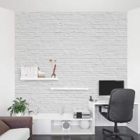 White-Brick-Mural-Office.jpg (10001000) | vintage frame ...