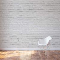 White Brick Wall Mural | Brick Wall Decal | Wallums