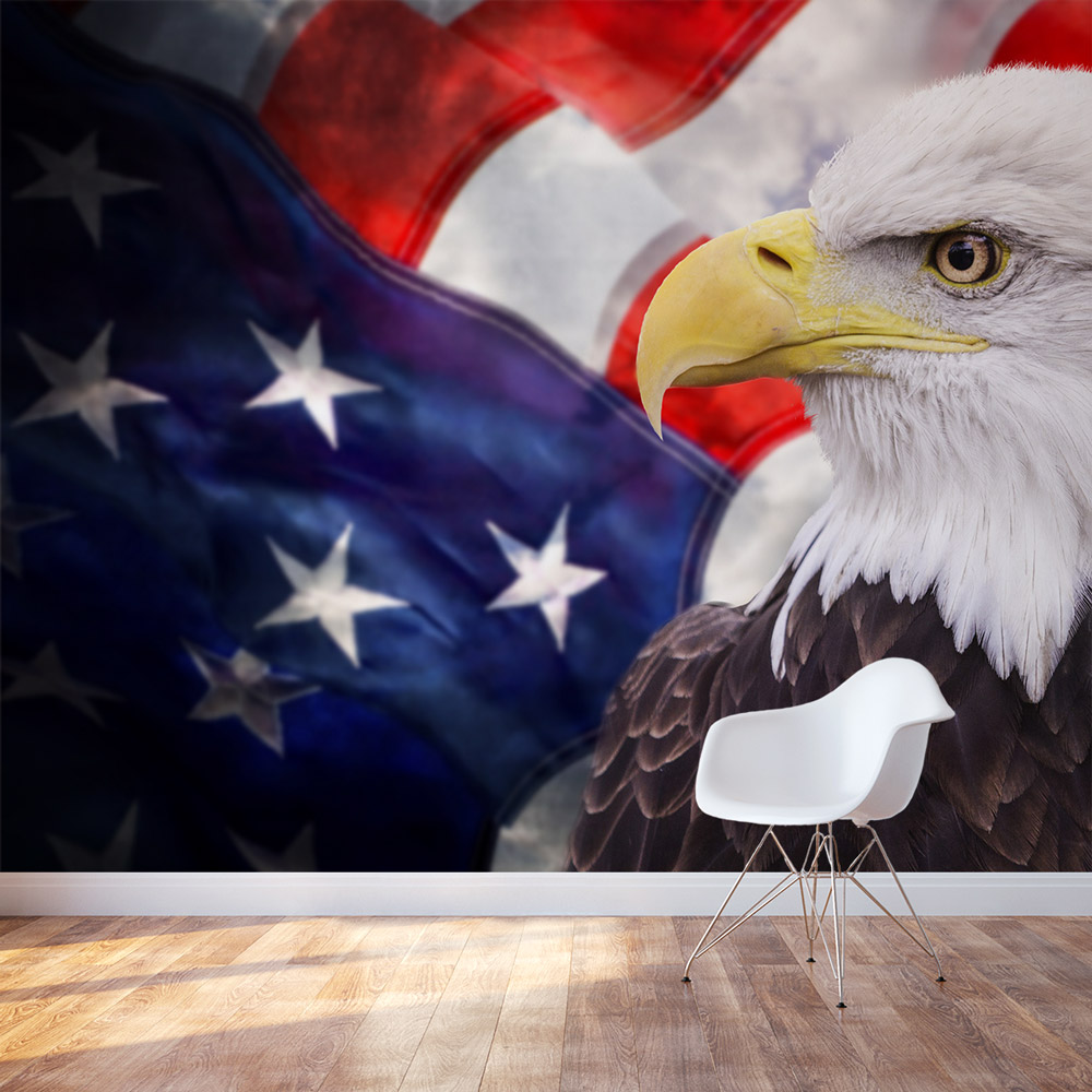 Wallpaper Quotes For Bedroom American Bald Eagle Wall Mural