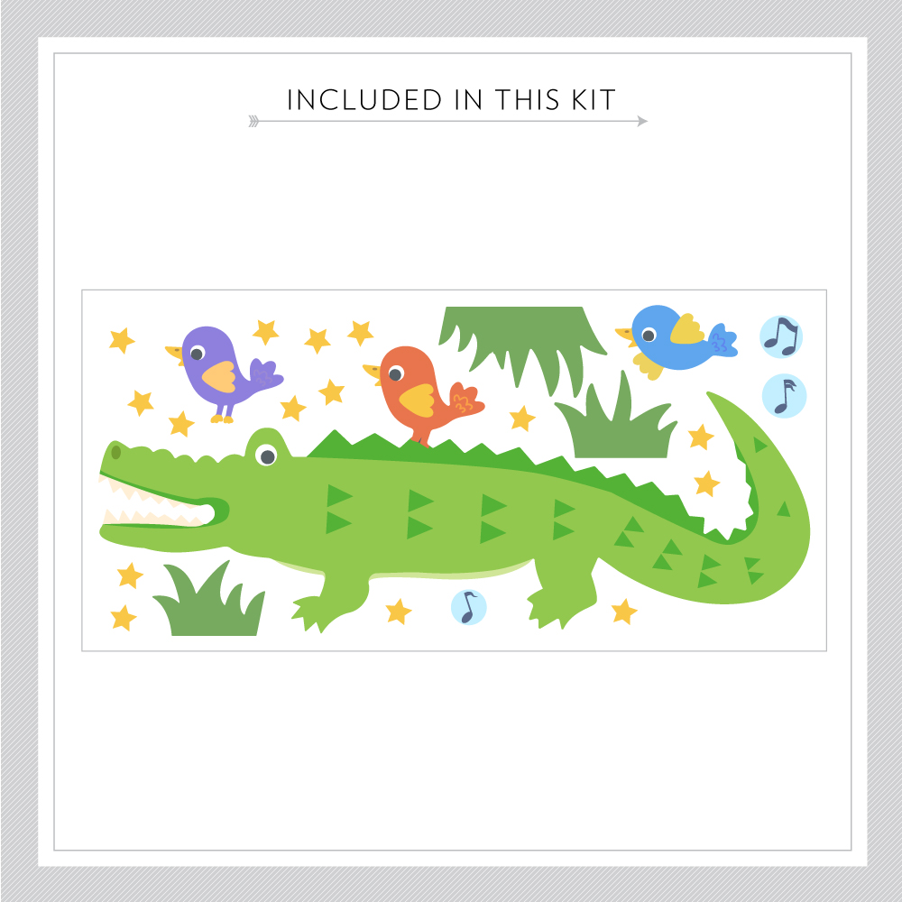 alligator and friends wall decal nursery wall stickers for sale