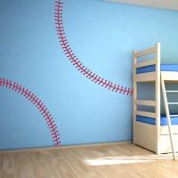 Baseball Stitching Wall Decal | Baseball Wall Decals | Wallums