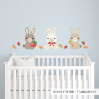 Bunny Friends Wall Decal | Bunny Rabbit Wall Stickers