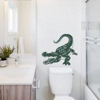 Realistic Alligator Wall Decal