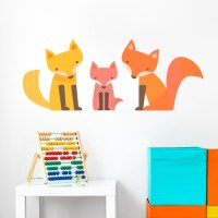 Fox Family Wall Decal | Children's Wall Decals | Wallums