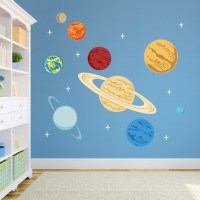 Planets Printed Wall Decal