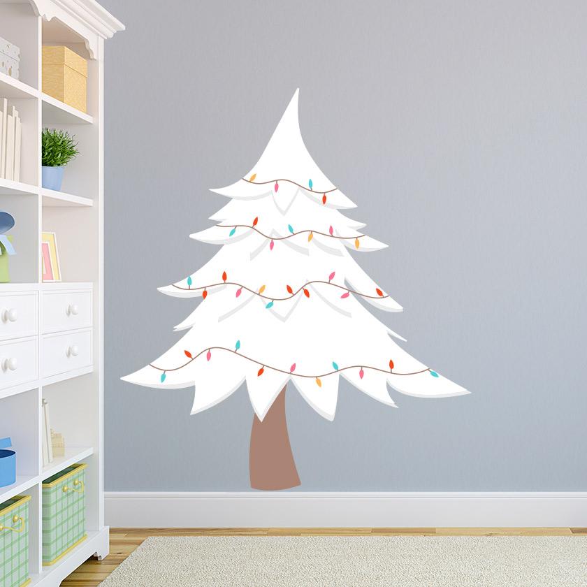 White Christmas Tree Wall Decal