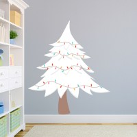 White Christmas Tree Wall Decal