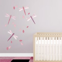 Pattern Dragonflies Printed Wall Decal
