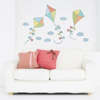 Patterned Kites Printed Wall Decal