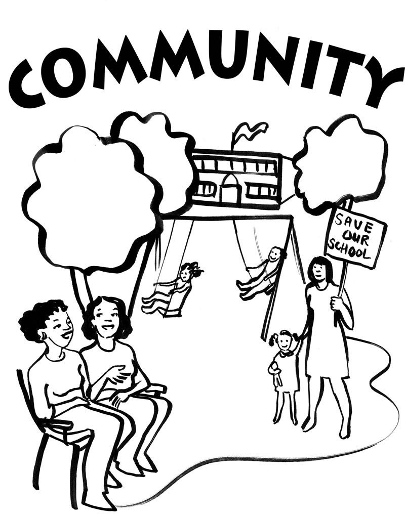 Free coloring pages of community