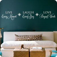 Live Every Moment Wall Quote | Wall Decals | Easy Removal