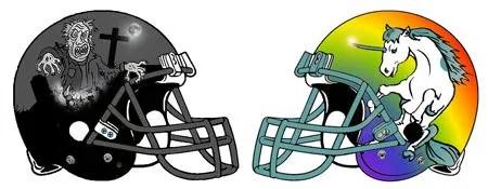 Monsters Fantasy Football Helmets