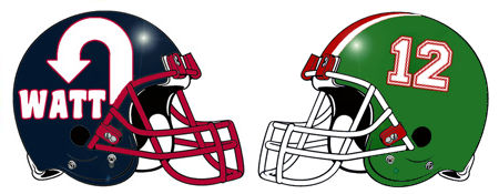 Team Name Fantasy Football Helmets