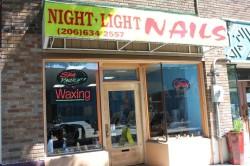 Nice Night Light Nail Salon Home Design Ideas