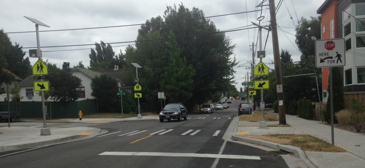 RRFB's and Crosswalks are good choices for the NPSF