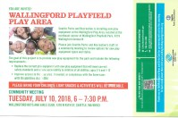 Wallingford Playfield Community Meeting – July 10, 6 -7:30pm