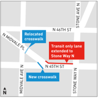 Bus Lane Extension Planned for N 45th Street