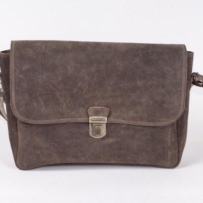 Borsa a cartella camoscio marrone-4120