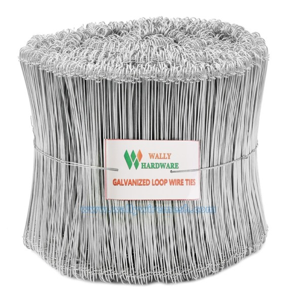 100pcs Galvanized Double Loop Wire Ties Wally Mesh