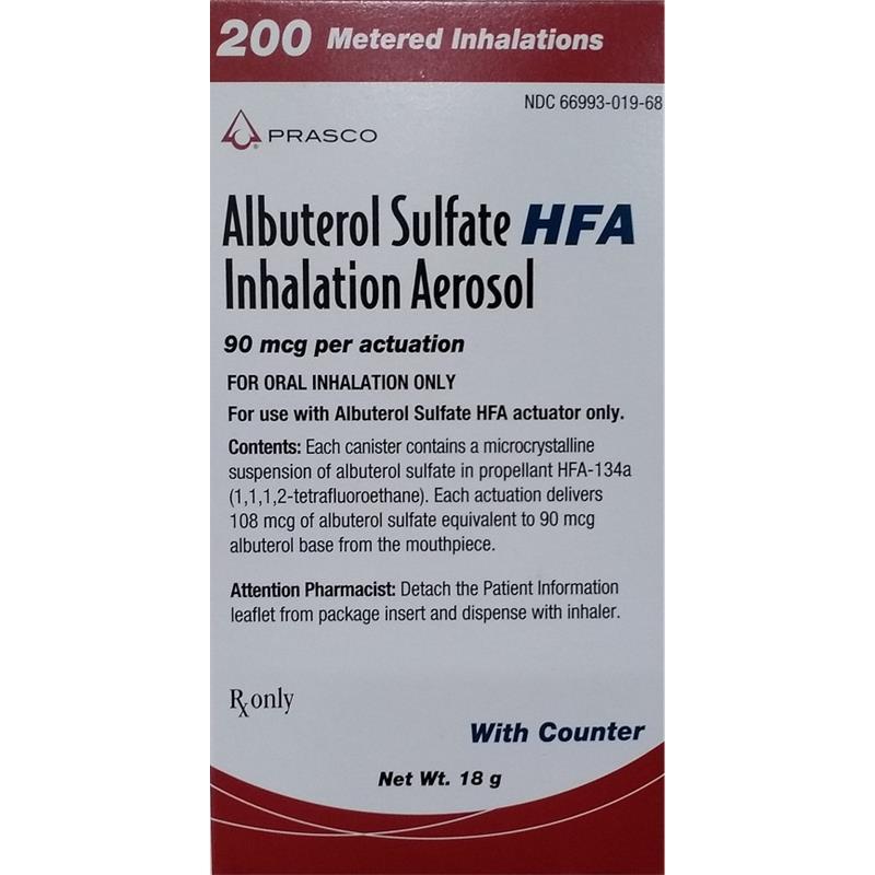Albuterol Sulfate HFA 90 mcg Inhaler