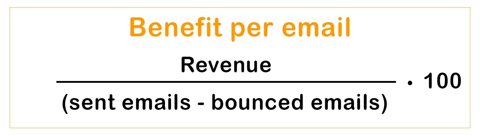 Benefit per email