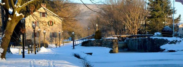 Winter time at the canal Walnutport