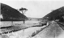 Lehigh-Canal-looking-north-toward-Lehigh-Gap