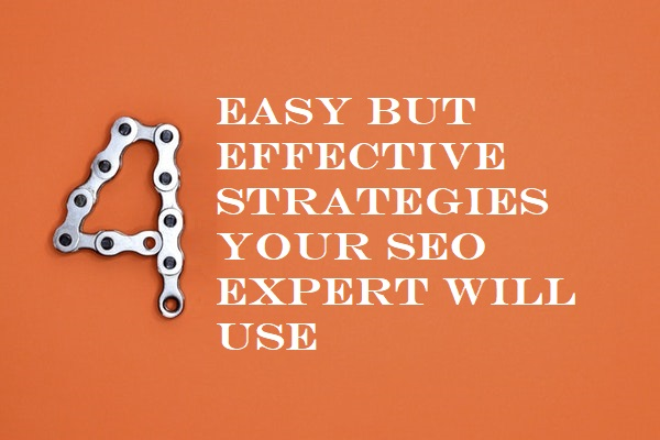 4 Easy but effective Strategies Your SEO Expert will use
