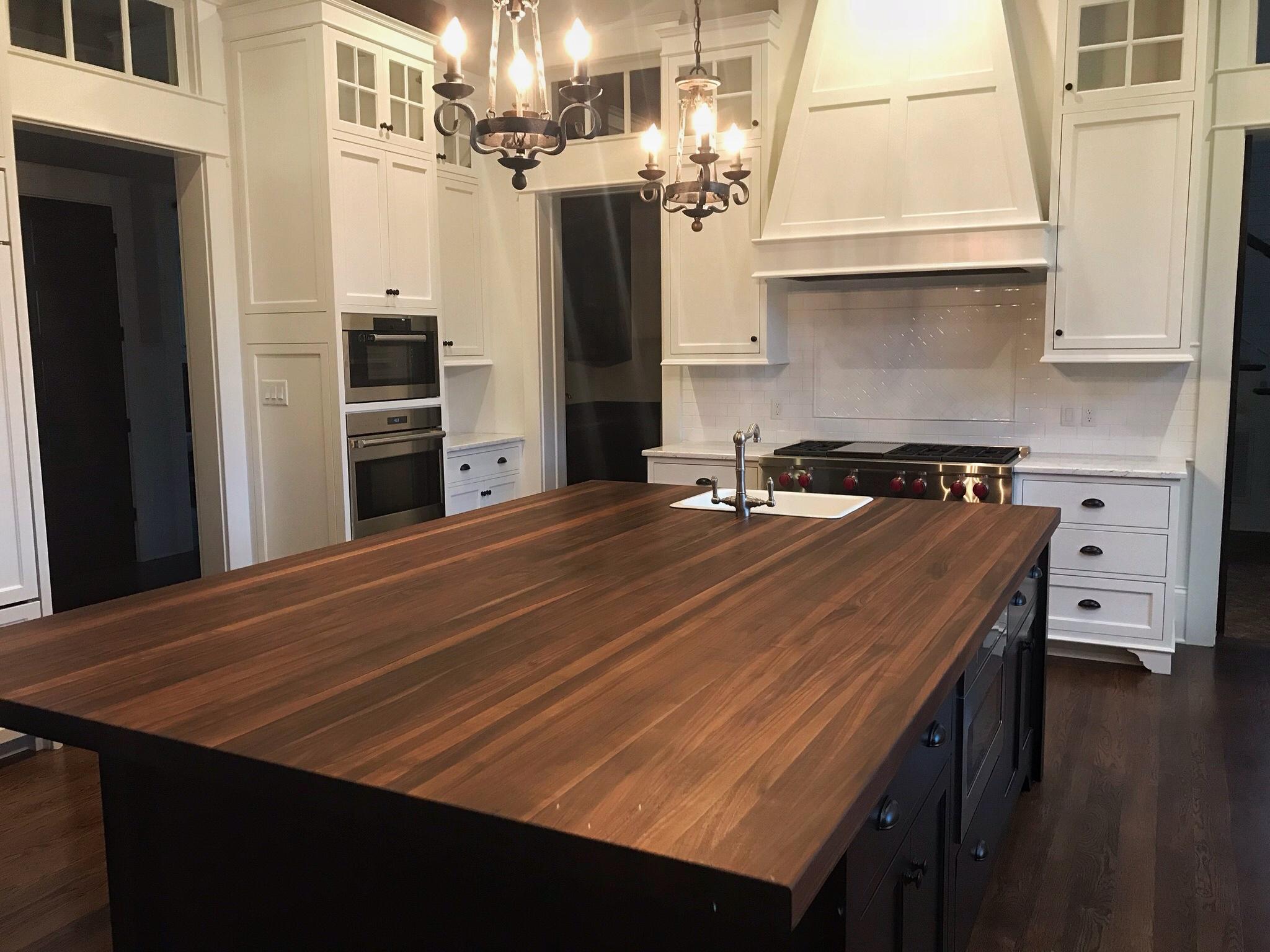kitchen island with butcher block cabinet deals countertop   custom design wood counters ...