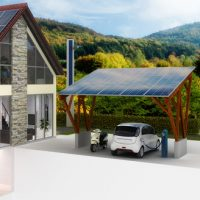 PV-Dachanlage am Carport