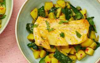 smoked haddock with spicy potatoes