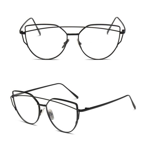 – Retro and Vintage Clubmasters – Style – Clubmasters – Semi-rimless Glasses – CLEAN LENS – NO PRESCRIPTION – Essential Daily Accessories – Suitable with all outfits – UNISEX – Brand New