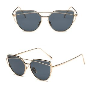 Oversized Female Sunglasses - Mirrored - All Silver black pink gold