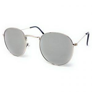 Round Retro Sunglasses - All Silver