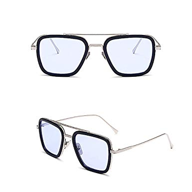 Iron Man - TONY STARK Retro Geeks – Retro and Vintage Clubmasters – Style – Clubmasters – Semi-rimless Glasses – CLEAN LENS – NO PRESCRIPTION – Essential Daily Accessories – Suitable with all outfits – UNISEX – Brand New - Glasses - Sunglasses - Specsavers - visionexpress