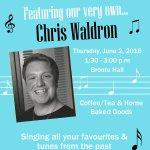Senior Social - Chris Waldron @ Walton United Church