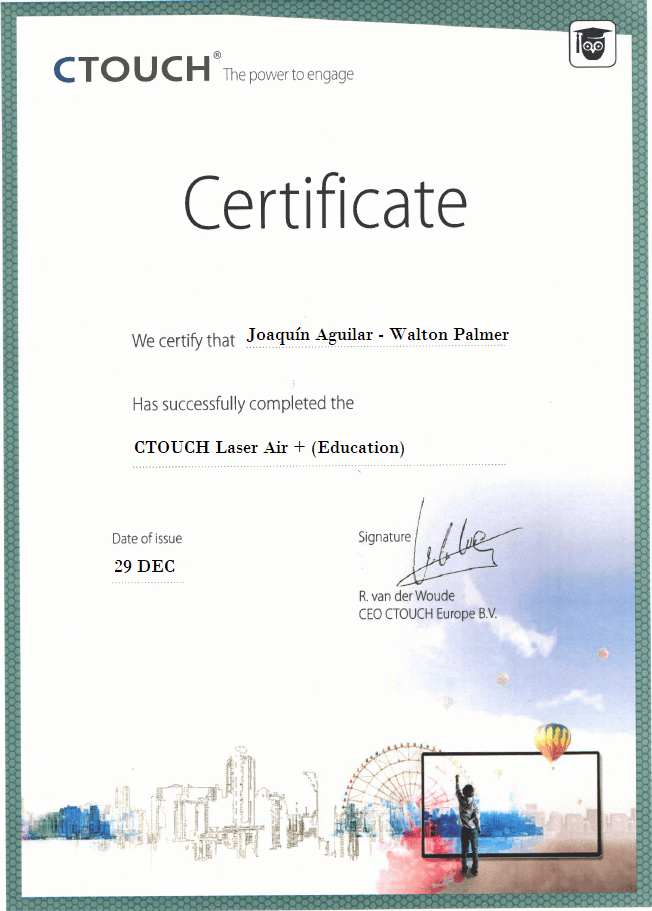 Certificate CTOUCH