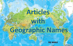 Articles with Geographical Names