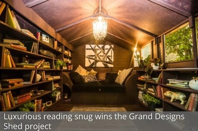 Shed transformed into reading snug wins the Grand Shed