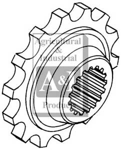 UW50615 Rear Coupler Sprocket---Replaces 107416A