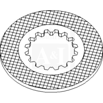 UT3059 Brake Friction Plate---Replaces 1341170C1